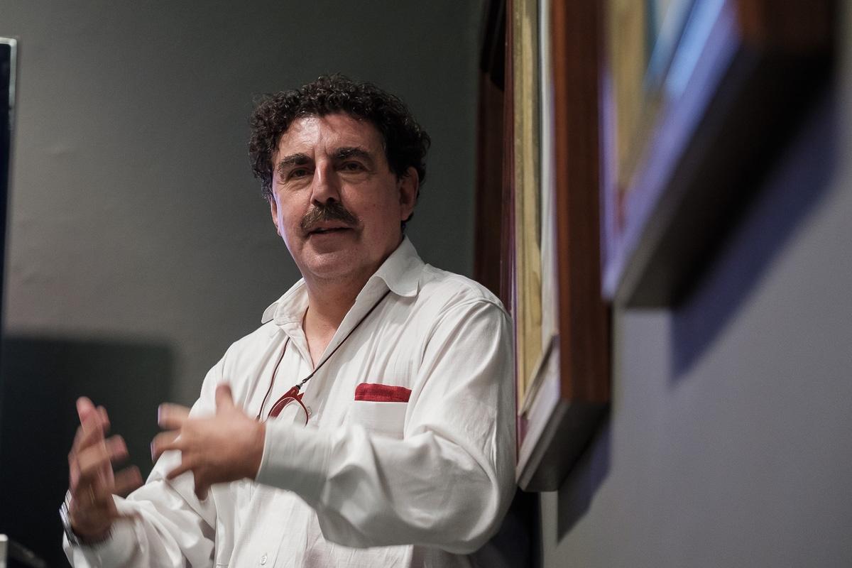 Juan Marchena, en su participación en los anteriores Coloquios