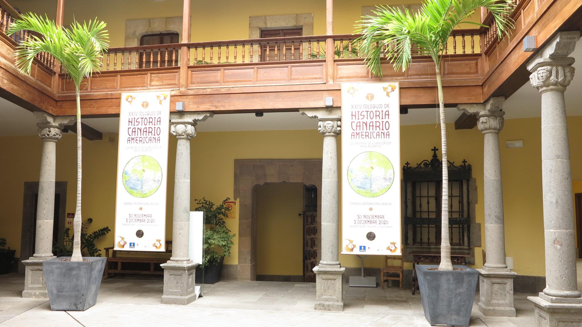 Todo listo en la Casa de Colón para la celebración del Coloquio