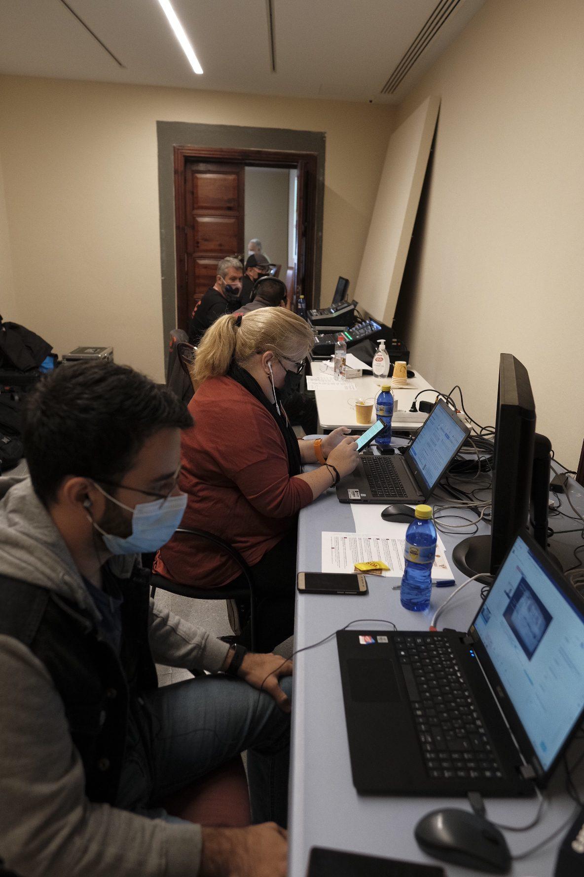 Un amplio equipo estuvo al servicio de las retransmisiones en streaming del Coloquio